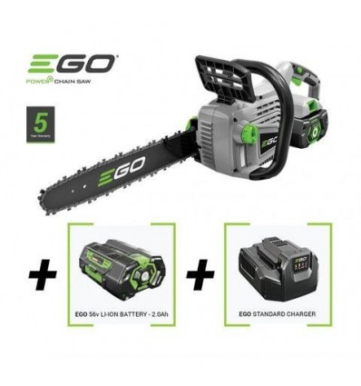 EGO Power CS1600E αλυσοπρίονο + ΠΑΤΑΡΙΑ +ΦΟΡΤΙΣΤΗ