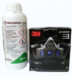 1 ΛΙΤΡO BULLDOCK KAI SECURE CLICK Μάσκα Μισού Προσώπου HF-802SD Mαζί με φίλτρα