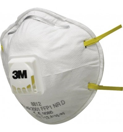 Μάσκα Προστασίας Αναπνοής Σκόνης FFP1 με Βαλβίδα 3M 8812