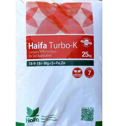 Haifa Turbo-K™ 18-9-18+ Mg+S+ Fe, Zn 25κιλα